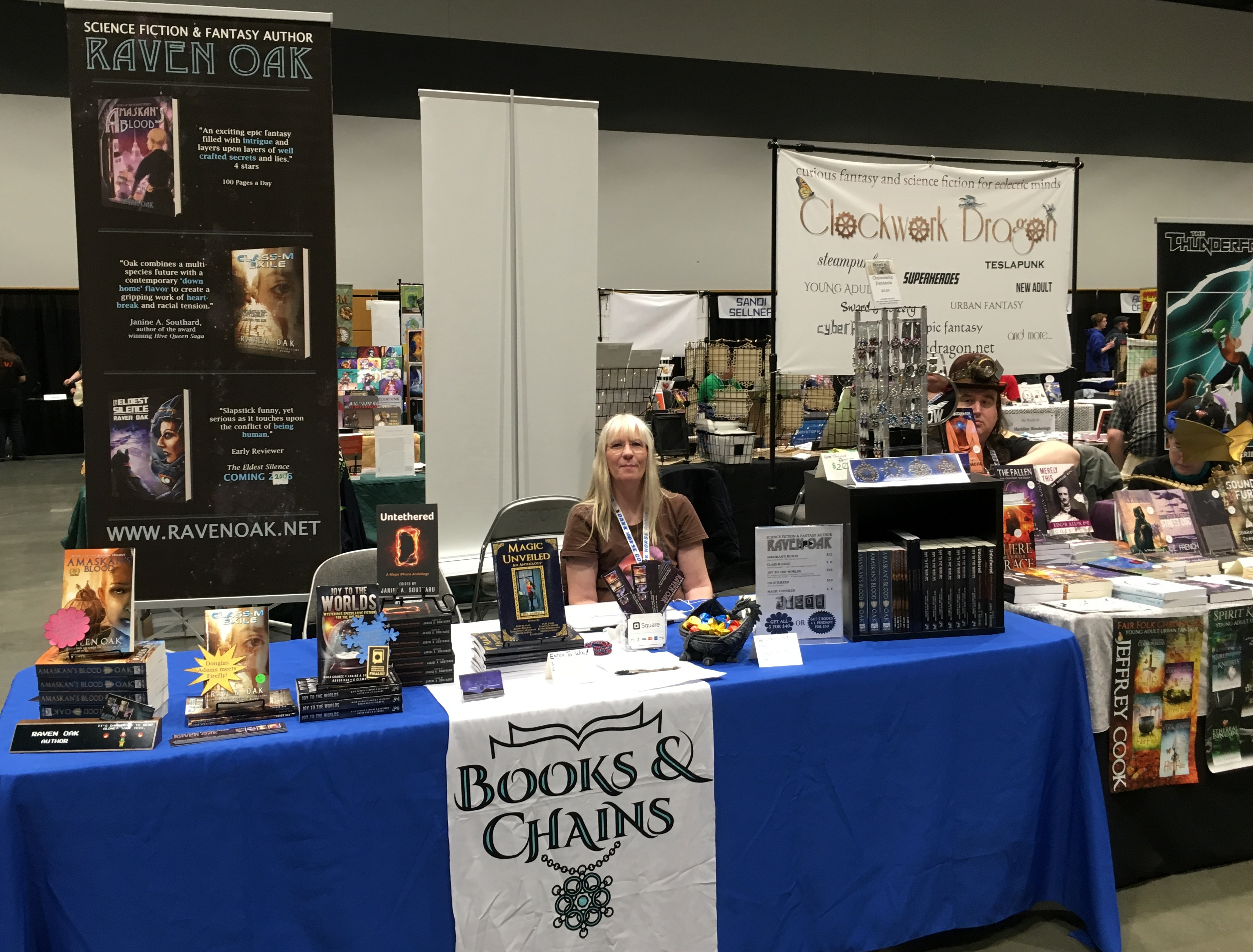 Books and Chains booth